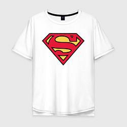 Футболка оверсайз мужская Superman logo цвета белый — фото 1