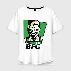 Футболка оверсайз мужская BFG цвета белый — фото 1