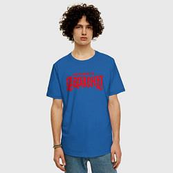 Мужская удлиненная футболка с принтом Stigmata, цвет: синий, артикул: 10203594505753 — фото 2