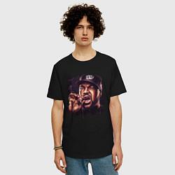 Футболка оверсайз мужская Ice Cube цвета черный — фото 2
