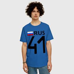 Футболка оверсайз мужская RUS 41 цвета синий — фото 2