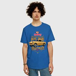 Футболка оверсайз мужская Gasser цвета синий — фото 2