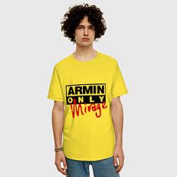 Мужская удлиненная футболка с принтом Armin Only: Mirage, цвет: желтый, артикул: 10036476305753 — фото 2
