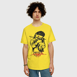 Футболка оверсайз мужская Chelsea Grin: Demon Girl цвета желтый — фото 2