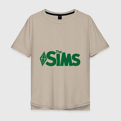 Футболка оверсайз мужская Sims цвета миндальный — фото 1