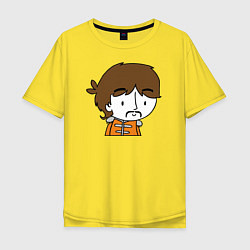 Футболка оверсайз мужская George Harrison Boy цвета желтый — фото 1