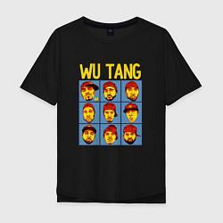 Футболка оверсайз мужская Wu-Tang Clan Faces цвета черный — фото 1