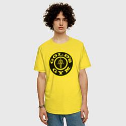 Футболка оверсайз мужская Gold's Gym цвета желтый — фото 2