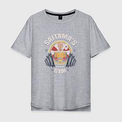 Мужская удлиненная футболка с принтом Saitama's Gym, цвет: меланж, артикул: 10082100205753 — фото 1