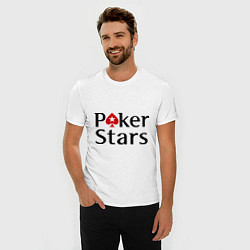 Футболка slim-fit Poker Stars цвета белый — фото 2