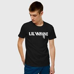 Футболка хлопковая мужская Lil Wayne цвета черный — фото 2