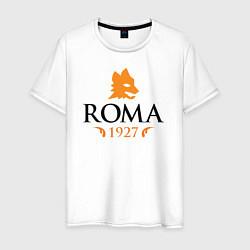Футболка хлопковая мужская AS Roma 1927 цвета белый — фото 1