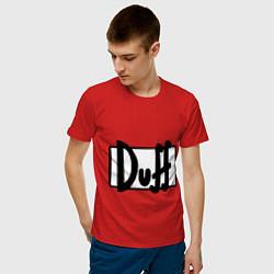 Футболка хлопковая мужская Duff цвета красный — фото 2