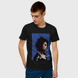 Футболка хлопковая мужская Marla Singer цвета черный — фото 2