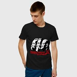 Футболка хлопковая мужская Навстречу будущему СССР цвета черный — фото 2