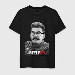 Футболка хлопковая мужская Stalin: Style in цвета черный — фото 1