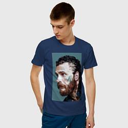 Футболка хлопковая мужская Том Харди Ван Гога цвета тёмно-синий — фото 2