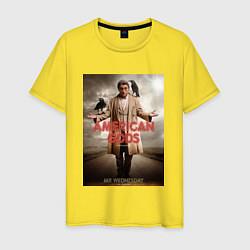 Футболка хлопковая мужская American Gods: Mr. Wednesday цвета желтый — фото 1