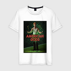 Футболка хлопковая мужская American Gods: Mad Sweeney цвета белый — фото 1