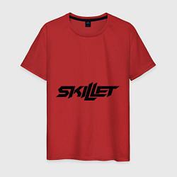 Мужская хлопковая футболка с принтом Skillet, цвет: красный, артикул: 10013055800001 — фото 1