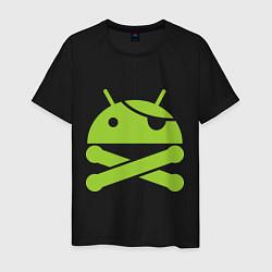Футболка хлопковая мужская Android super user - фото 1
