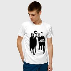 Футболка хлопковая мужская Arctic Monkeys цвета белый — фото 2
