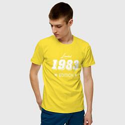 Футболка хлопковая мужская Limited Edition 1983 цвета желтый — фото 2