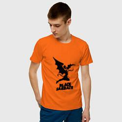 Футболка хлопковая мужская Black Sabbath цвета оранжевый — фото 2