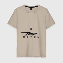 Футболка хлопковая мужская Tokio Hotel цвета миндальный — фото 1