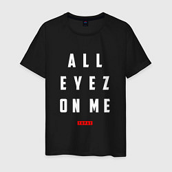 Футболка хлопковая мужская Tupac: All eyez on me цвета черный — фото 1