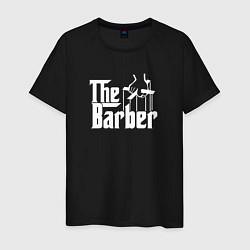 Футболка хлопковая мужская The Barber Godfather цвета черный — фото 1