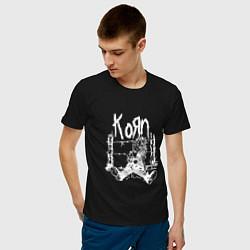Футболка хлопковая мужская Korn цвета черный — фото 2