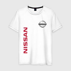 Футболка хлопковая мужская Nissan Style цвета белый — фото 1