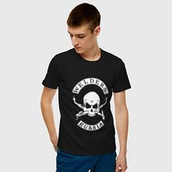Футболка хлопковая мужская Welders Russia цвета черный — фото 2