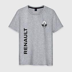 Футболка хлопковая мужская Renault Style цвета меланж — фото 1