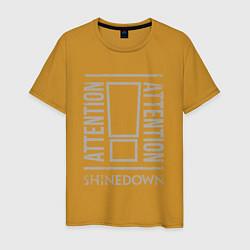 Футболка хлопковая мужская Attention Shinedown цвета горчичный — фото 1