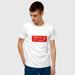 Футболка хлопковая мужская Anime Supreme цвета белый — фото 2