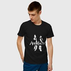 Футболка хлопковая мужская Агата Кристи цвета черный — фото 2