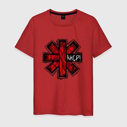 Футболка хлопковая мужская Red Hot Chili Peppers цвета красный — фото 1