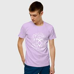 Футболка хлопковая мужская Shadowhunters Runes цвета лаванда — фото 2