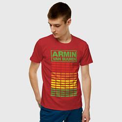 Футболка хлопковая мужская Armin van Buuren: EQ цвета красный — фото 2