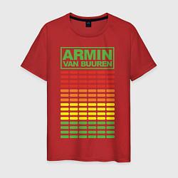 Футболка хлопковая мужская Armin van Buuren: EQ цвета красный — фото 1