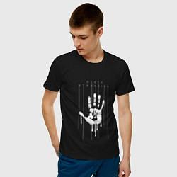 Футболка хлопковая мужская Death Stranding: Hand цвета черный — фото 2