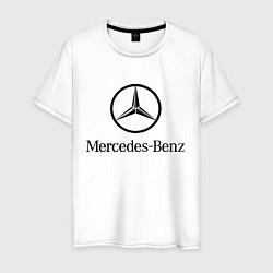Футболка хлопковая мужская Logo Mercedes-Benz цвета белый — фото 1