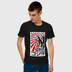 Футболка хлопковая мужская Godzilla Poster цвета черный — фото 2