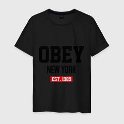 Футболка хлопковая мужская Obey Est. 1989 цвета черный — фото 1