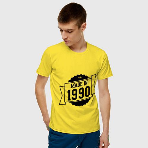 Мужская футболка Made in 1990 / Желтый – фото 3