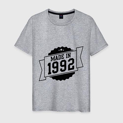 Мужская футболка Made in 1992 / Меланж – фото 1