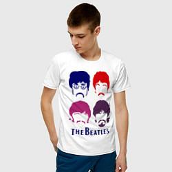 Футболка хлопковая мужская The Beatles faces цвета белый — фото 2