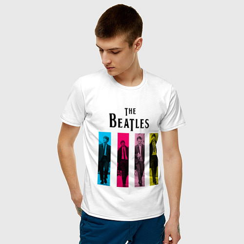 Мужская футболка Walking Beatles / Белый – фото 3